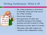 writing conference what is it