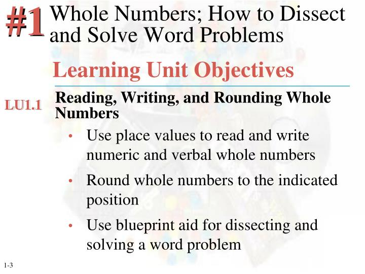 Whole numbers how to dissect and solve word problems1
