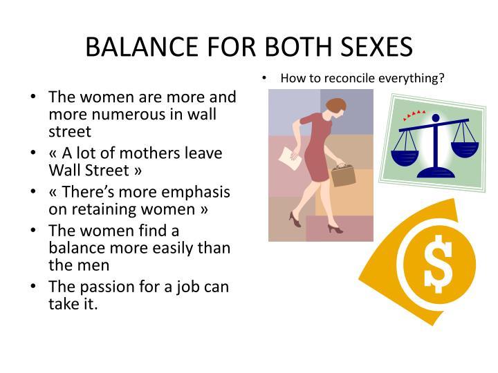 BALANCE FOR BOTH SEXES