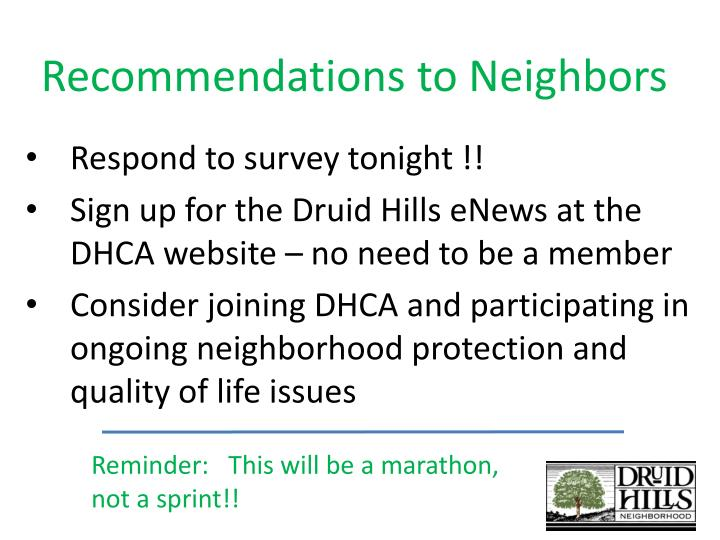 Recommendations to Neighbors
