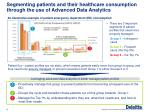segmenting patients and their healthcare consumption through the use of advanced data analytics