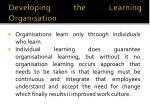 developing the learning organisation1