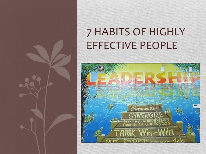 7 habits of highly effective people pdf with images