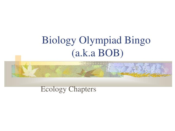 ecology chapters n.