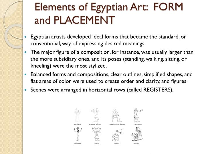 Elements of Egyptian Art:  FORM and PLACEMENT