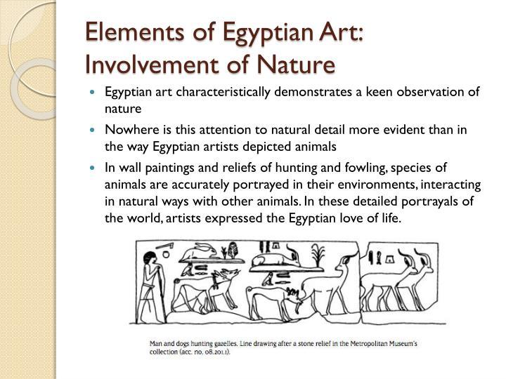 Elements of Egyptian Art:  Involvement