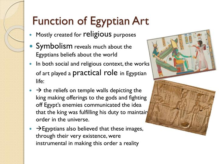 Function of egyptian art