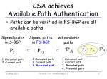 csa achieves available path authentication