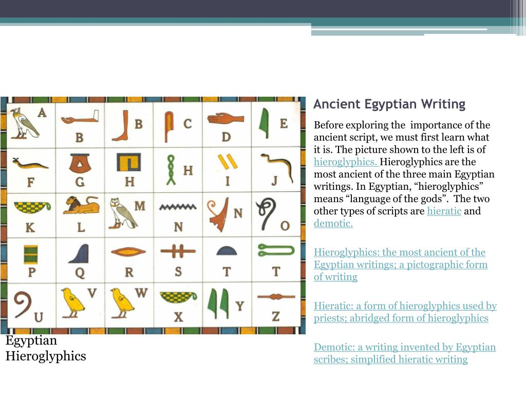 PPT - How was writing an important part of ancient Egyptian