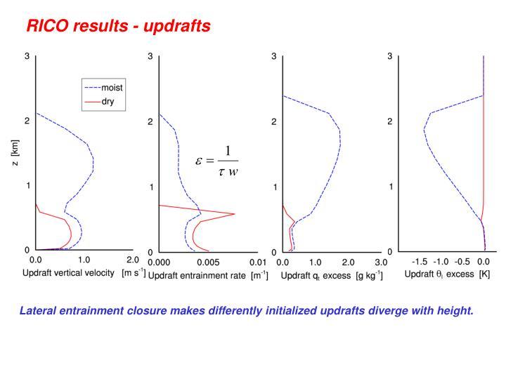 RICO results - updrafts
