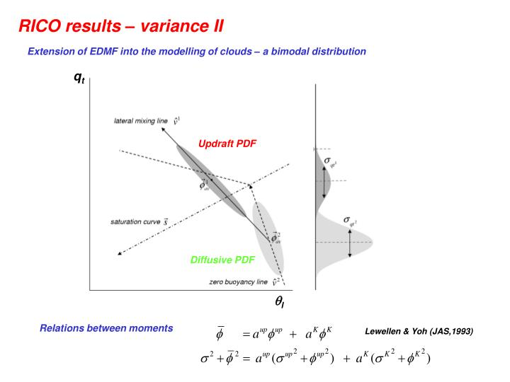 RICO results – variance II