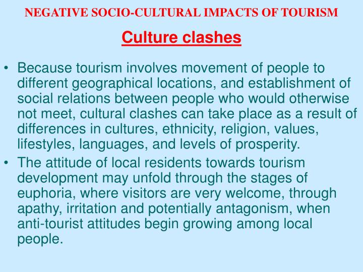 socio cultural impacts of tourism in the philippines