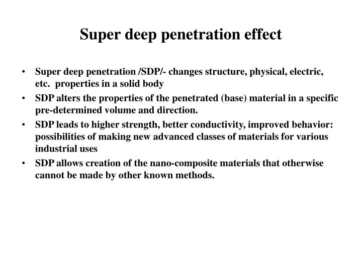 how to get deep penetration