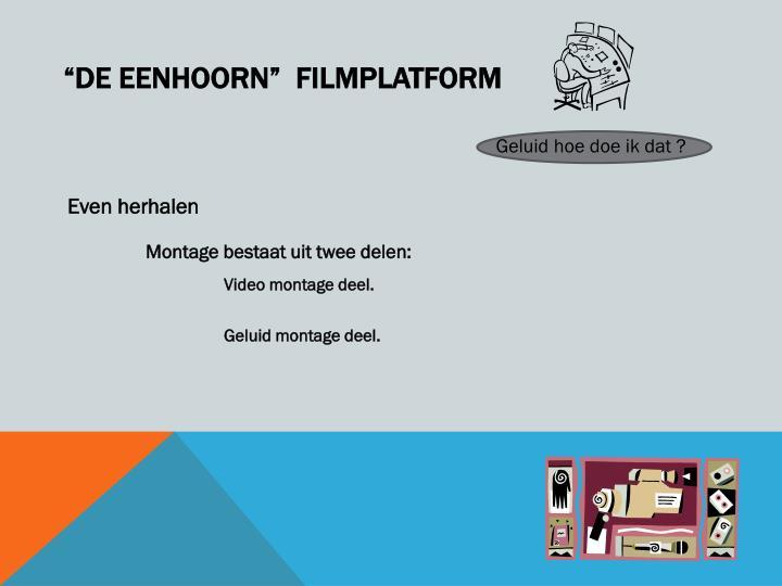 De eenhoorn filmplatform