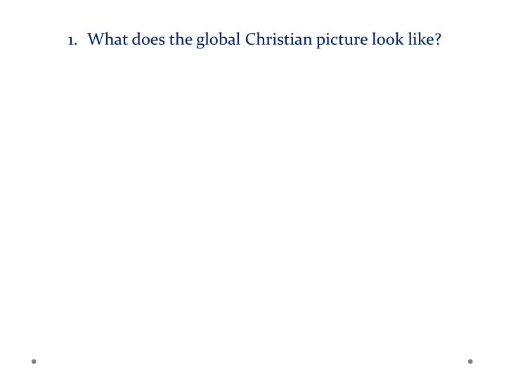 What does the global Christian picture look like?