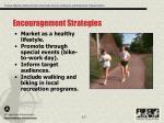 encouragement strategies
