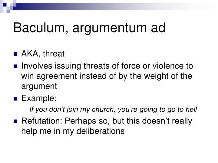 Baculum argumentum ad