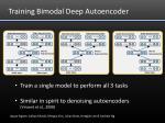training bimodal deep autoencoder
