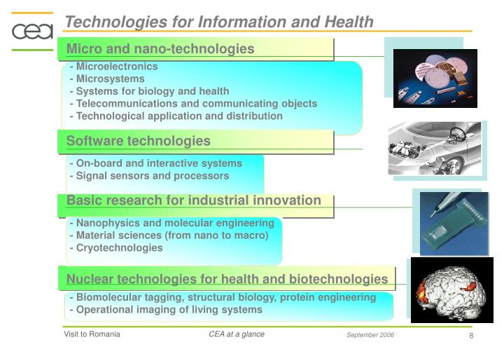 Technologies for Information and Health