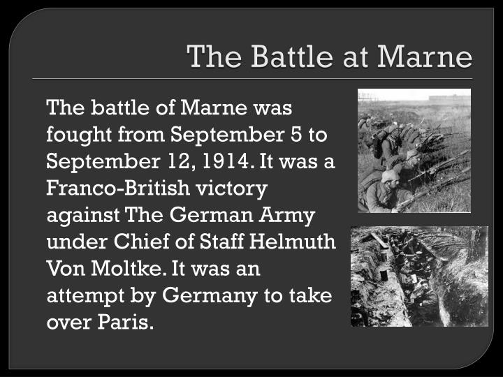 The Battle at Marne