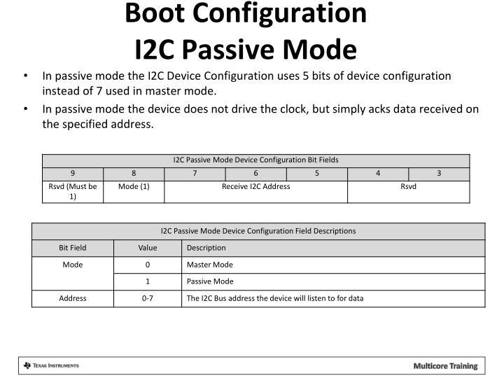 Boot Configuration