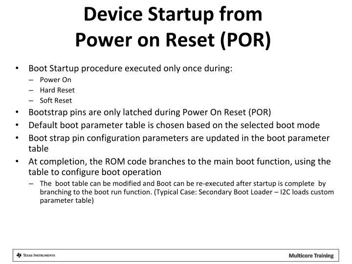 Device Startup from