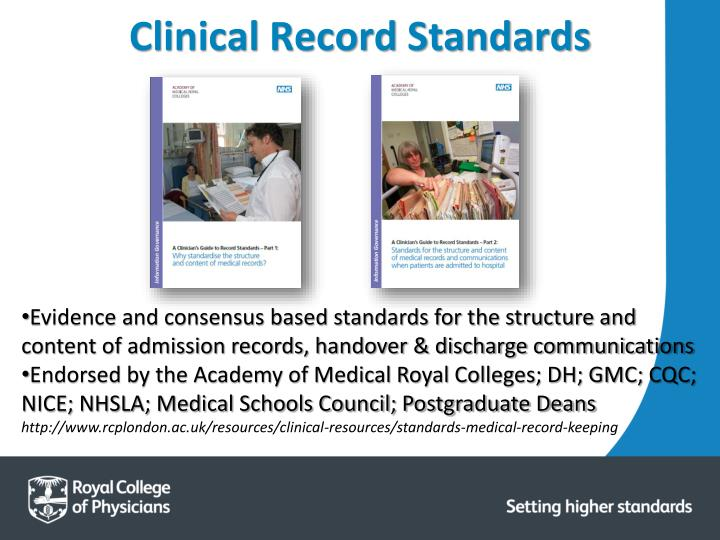 Clinical Record Standards