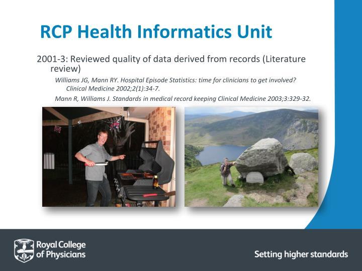 RCP Health Informatics Unit