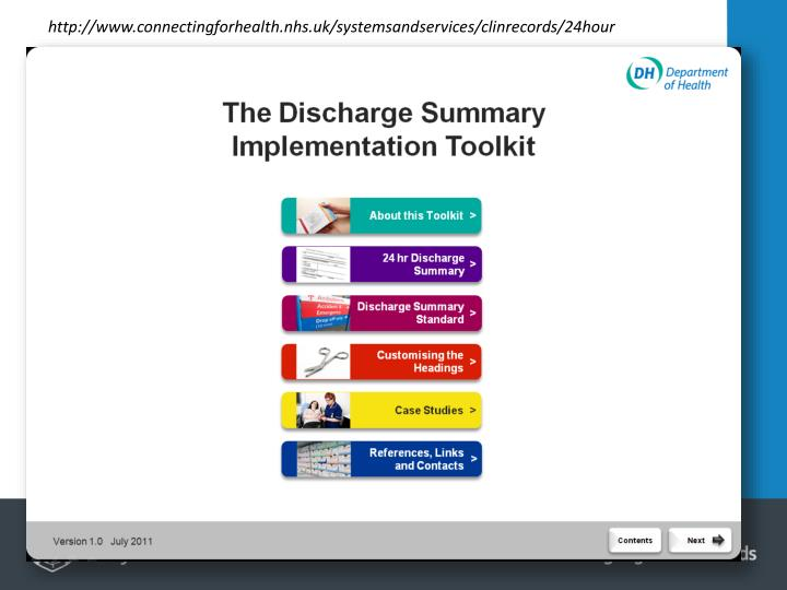 http://www.connectingforhealth.nhs.uk/systemsandservices/clinrecords/24hour