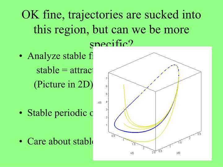 OK fine, trajectories are sucked into this region, but can we be more specific?