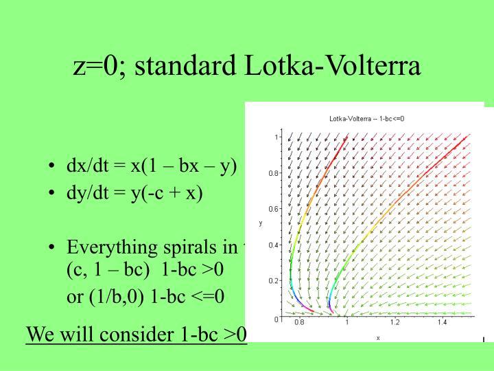 z=0; standard Lotka-Volterra
