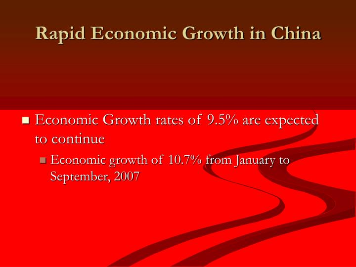 Rapid economic growth in china