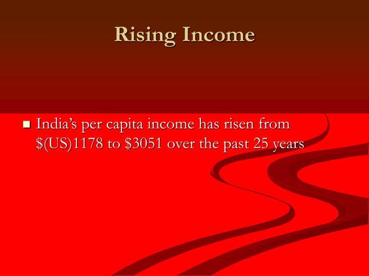 Rising Income