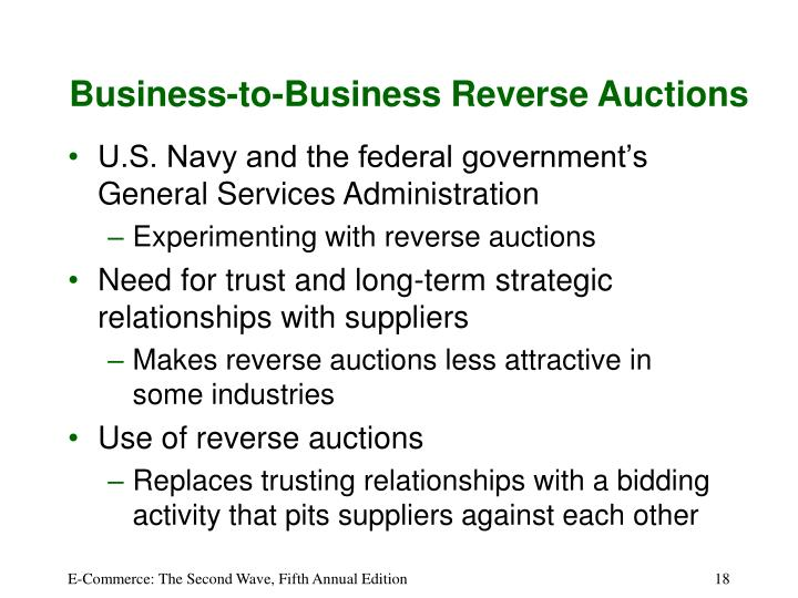 Business-to-Business Reverse Auctions