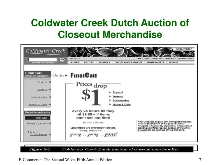 Coldwater Creek Dutch Auction of Closeout Merchandise