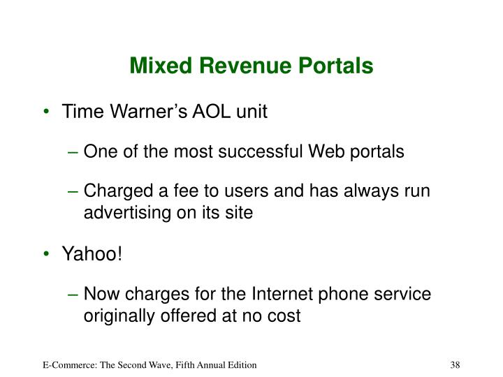 Mixed Revenue Portals
