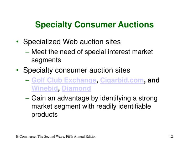 Specialty Consumer Auctions