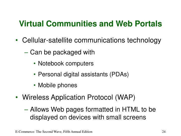 Virtual Communities and Web Portals