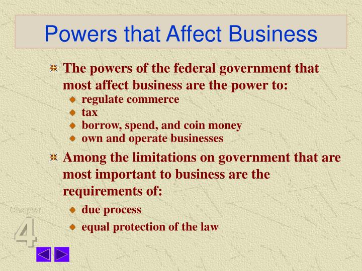 constitution affects business Businesses do not operate in a vacuum they are subject to their external environments in this lesson, you'll learn about the legal and economic.