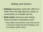 bullies and victims