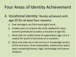 four areas of identity achievement1