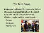 the peer group