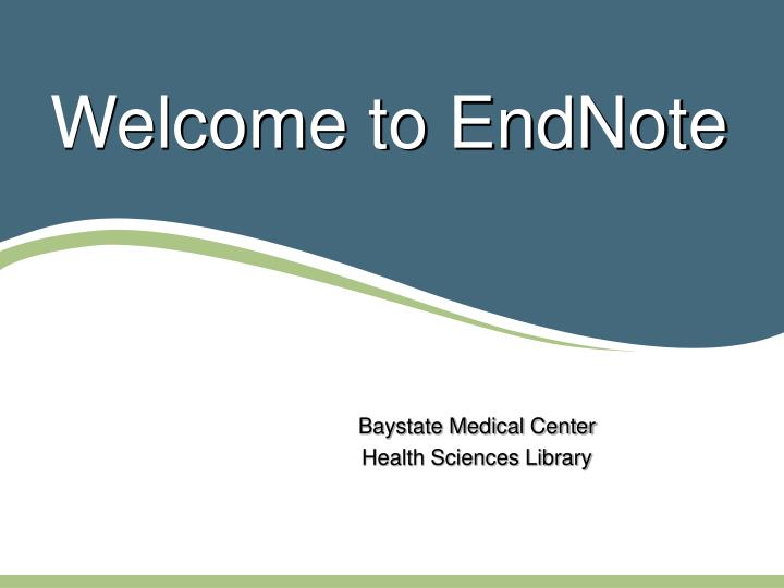 welcome to endnote n.
