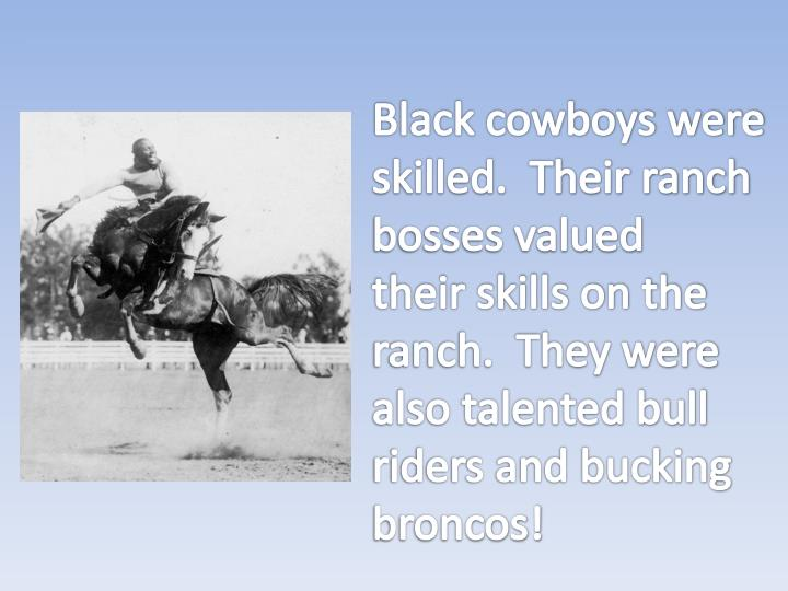 Black cowboys were
