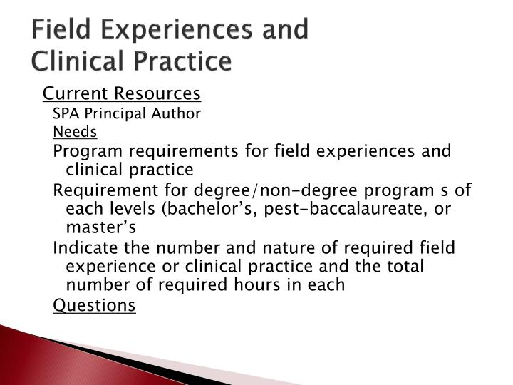 Field Experiences and