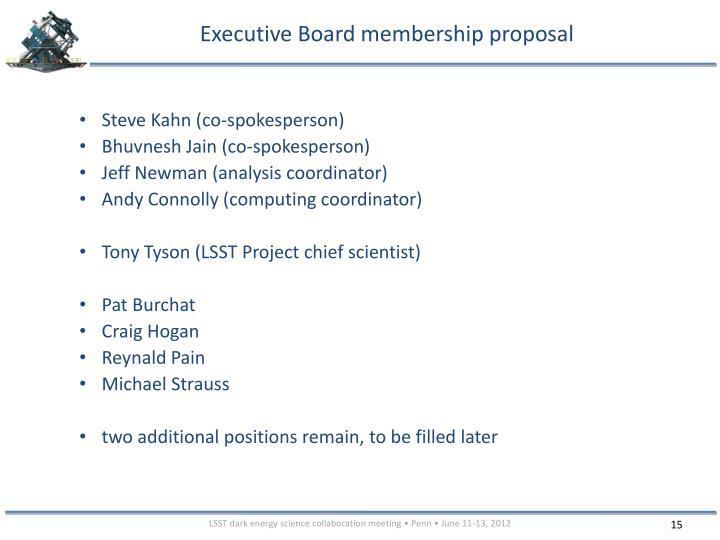 Executive Board membership proposal