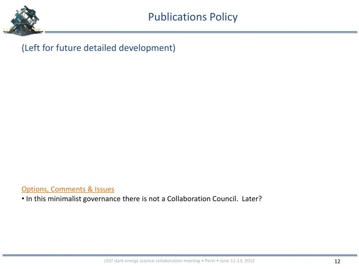 Publications Policy