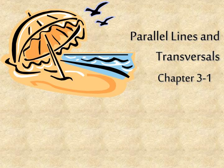 parallel lines and transversals n.