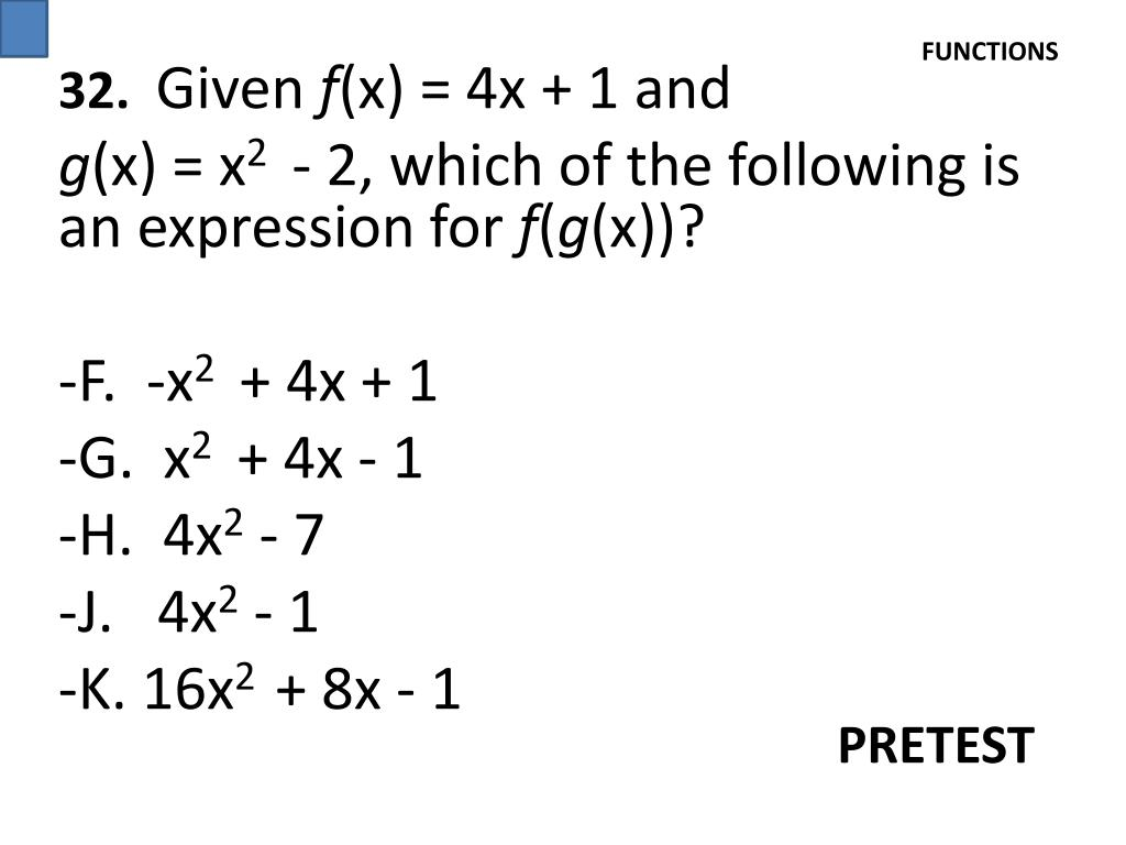 PPT - 6 . The Expression (4z + 3)(z – 2) Is Equivalent To