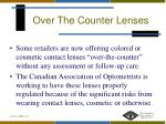 over the counter lenses